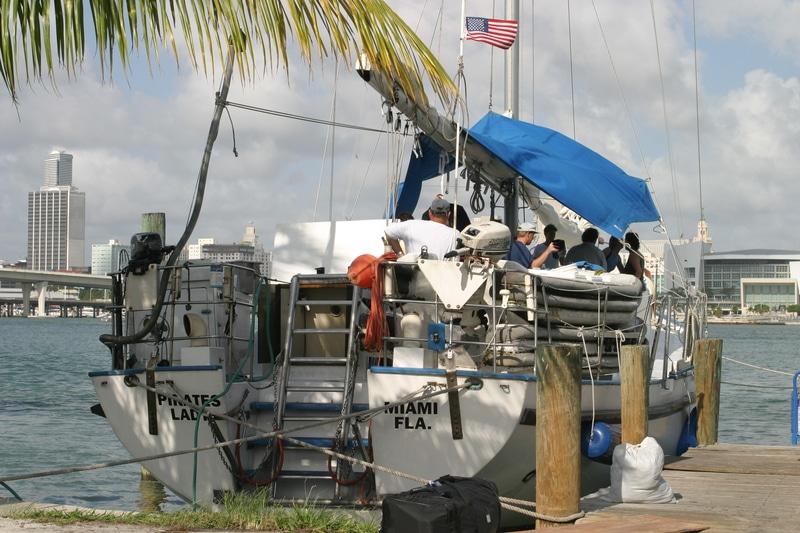 Bateau dans le port de Miami