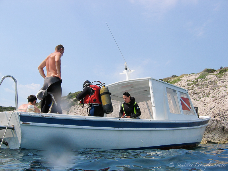Bateau de plongée en Croatie