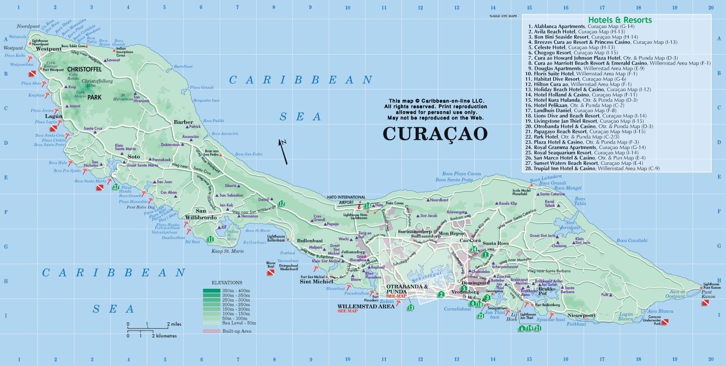 curacao-map