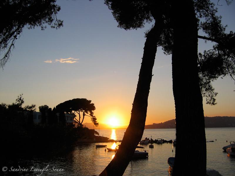 Plongées Antibes coucher de soleil