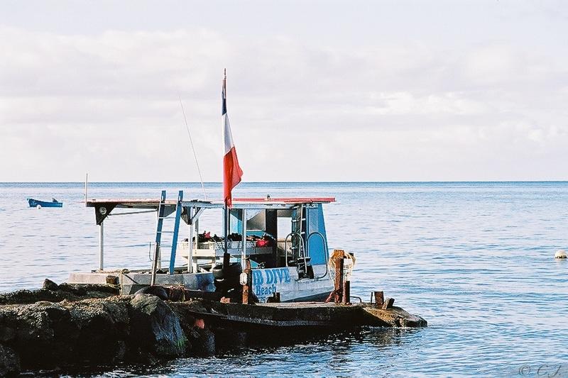 Bateau de plongée île de la Dominique