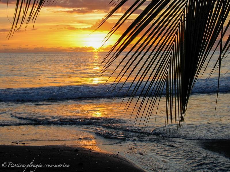 Coucher de soleil île de la Dominique
