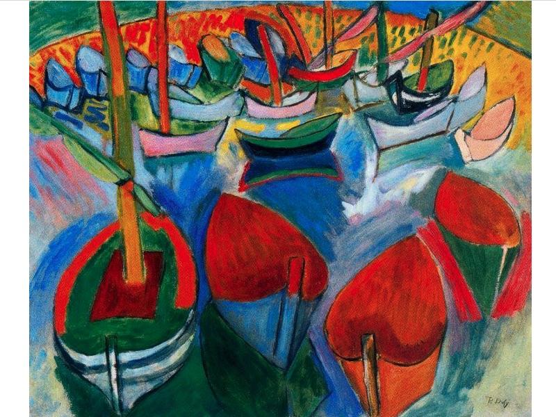 Bateaux à Martigues Raoul Dufy