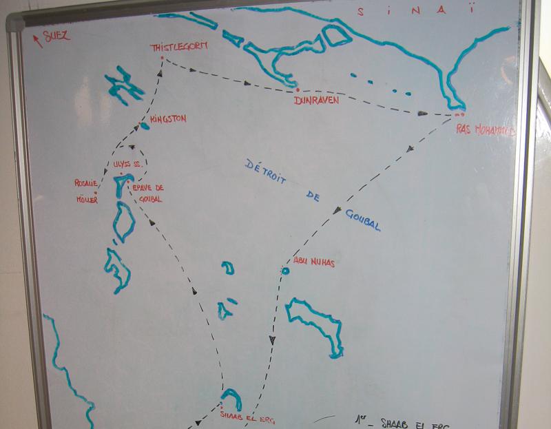 circuit croisière nord plongée mer Rouge