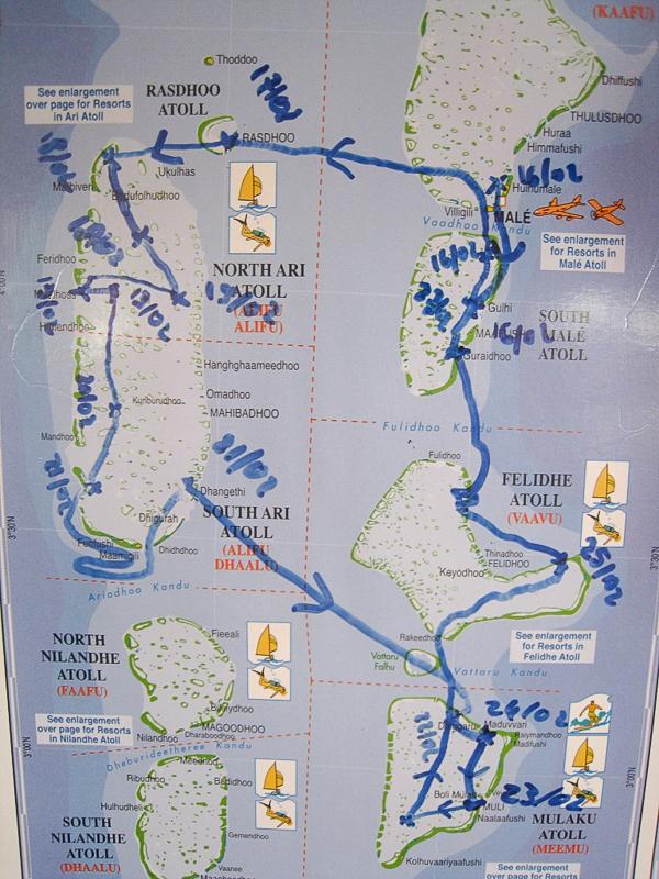 Circuit croisière plongée aux Maldives