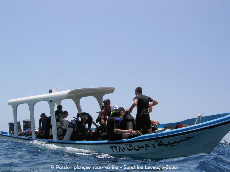 Bateau plongée Oman