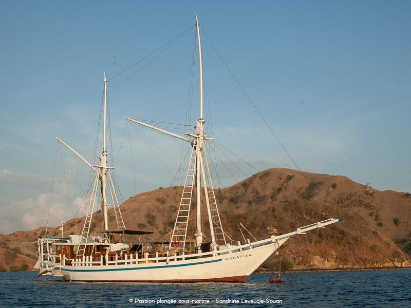 pinisi bateau plongée Komodo