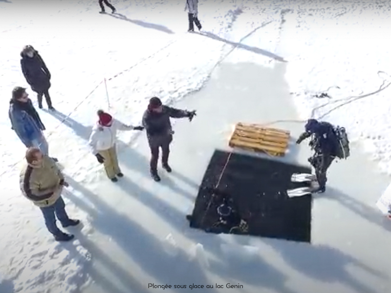 plongée sous glace lac Genin