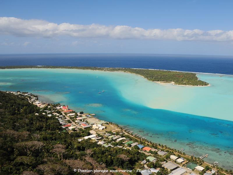 vue sur Maupiti et son lagon