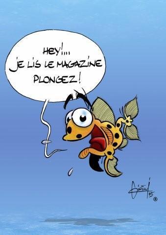 Dessin réalisé par Franck Girelli pour le magazine Plongez !