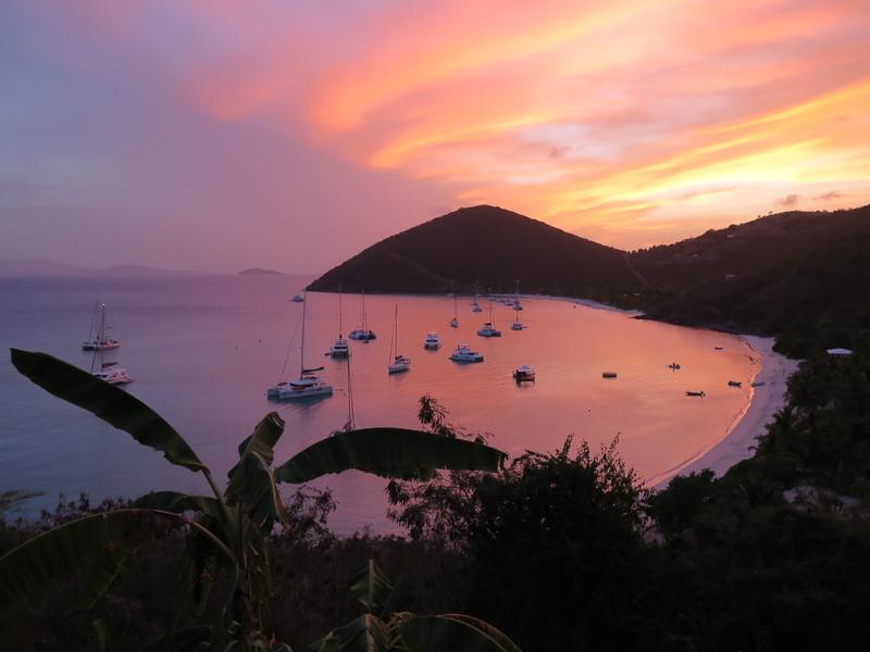 Coucher de soleil typique des Caraïbes