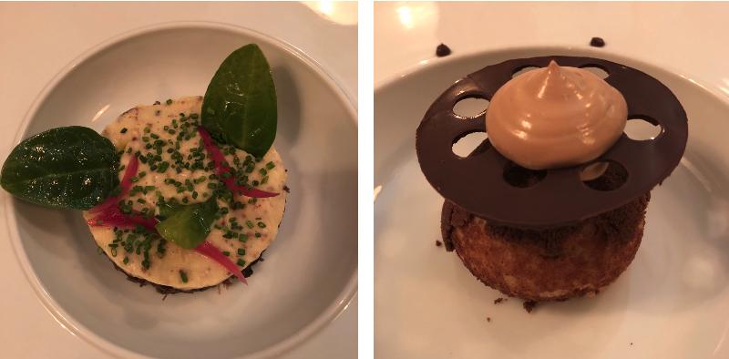 Exemples de plats au restaurant La Rumeur